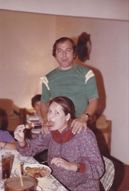 Ricardo Laguna: Family Album - Ricardo Sr. and Marisela pregnant with Ricardo in 1982.
